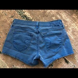 Blue big star shorts